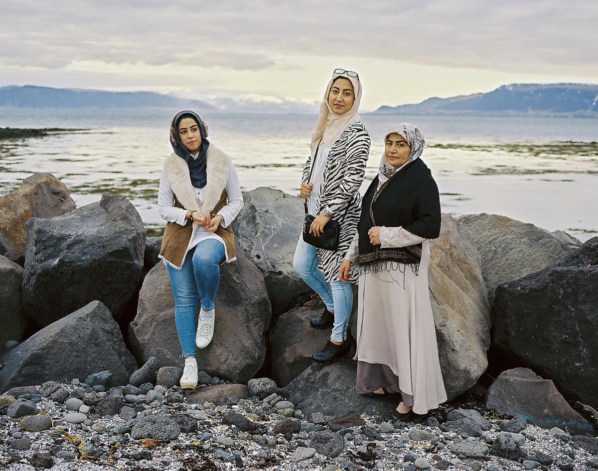 """Fereshte (21) and Zahra Mesbah (23) and their mother from Afghanistan have been residents of Reykjavik since 2012 after spending years in a refugee camp in Iran. """"This is my brother's dream country"""" recounts Zahra as she saw the ocean for the first time upon arriving in Iceland. Having lost their three brothers and father, the family of three women have adopted the culture of feminism here. """"Iceland has build my new personality—to become as strong as a woman here... No one tells me here [what] I can't do. [I'm told to] follow my dreams, so I became more and more brave,"""" Zahra confesses. Both sisters are fluent in Icelandic and are studying to practice medicine."""